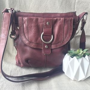 Large Leather Fossil Crossbody